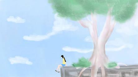 [nhk ni youkoso] Blue sky by Psychopatate-Chan