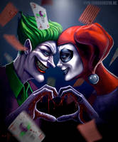 Joker and Harley Quinn by Sullyman