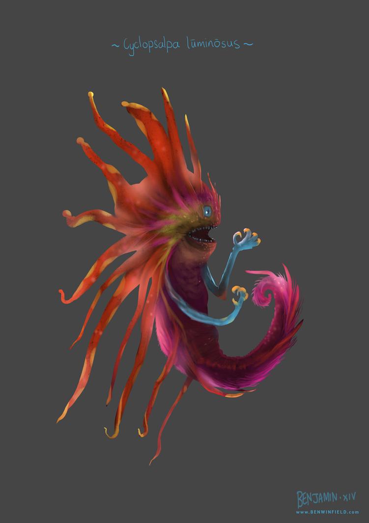 Cyclopsalpa Luminosus by arteechoke