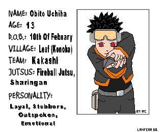 O b i t o - Ninja info Card by Lanfear68