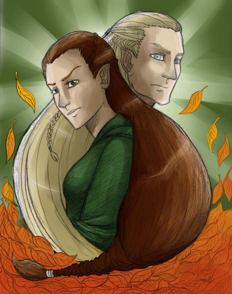 Legolas and Tauriel by Luminanza on DeviantArt