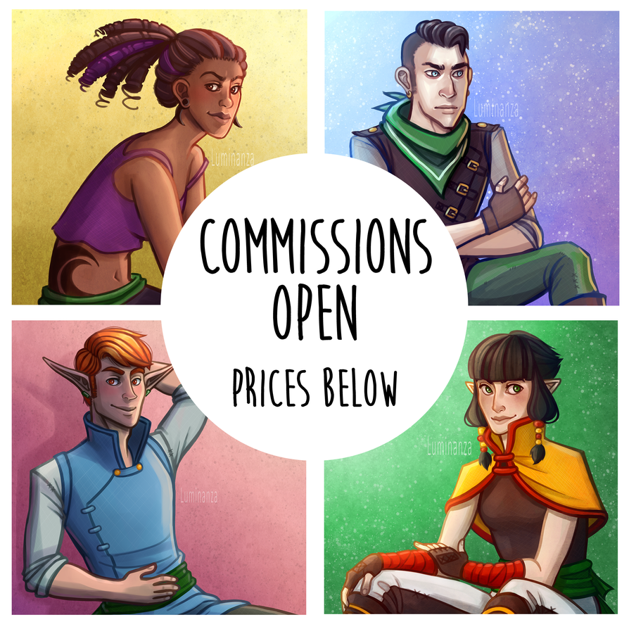 COMMISSIONS: OPEN by Luminanza