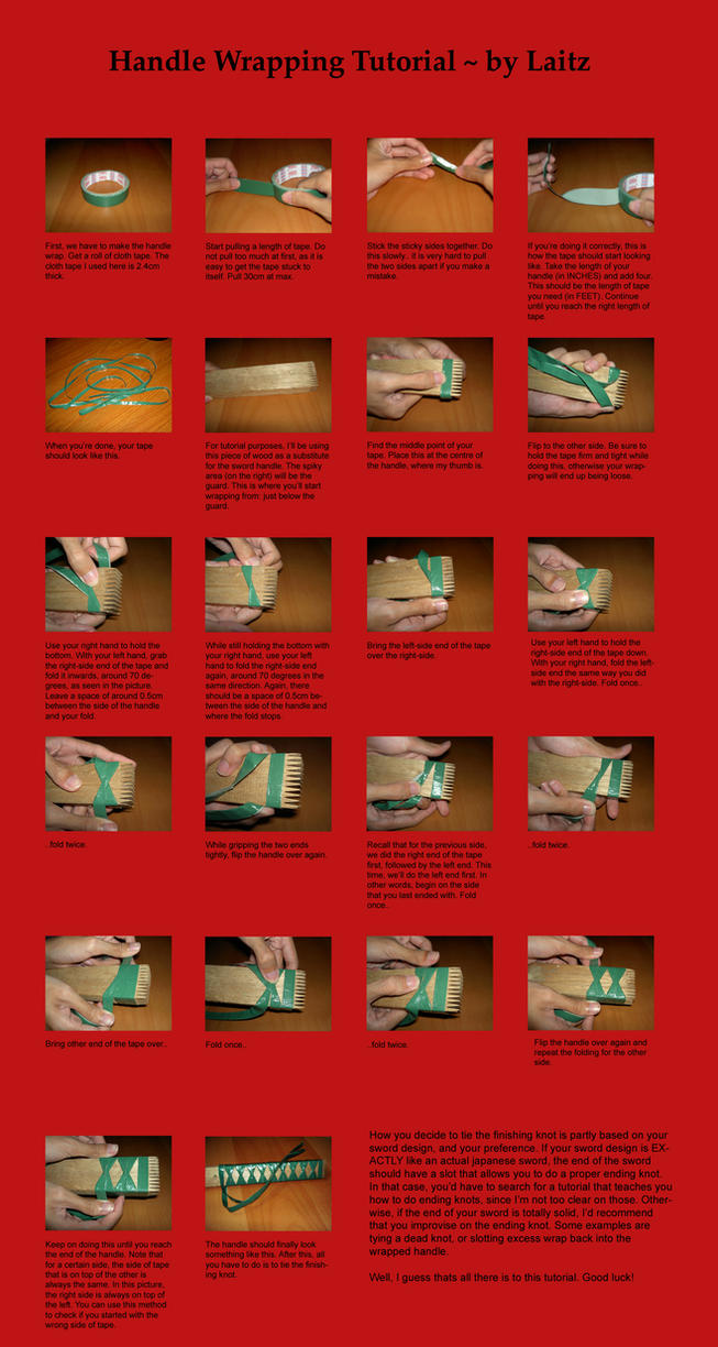 Handle Wrapping Tutorial by Laitz