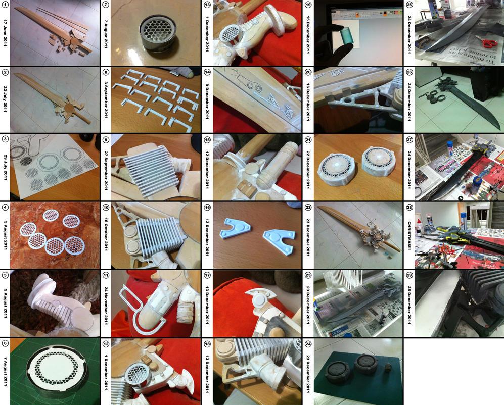 Noctis Sword WIP shots -complete- by Laitz