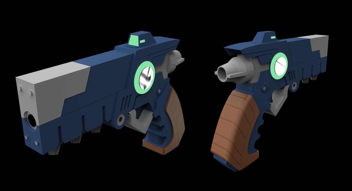 Conductor Gun // Azure Striker Gunvolt by Laitz