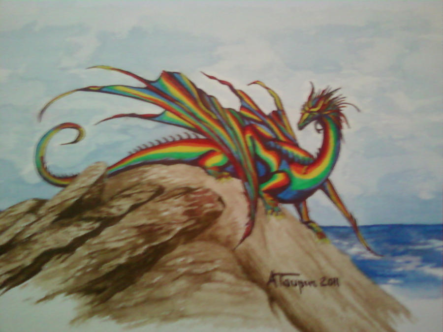 big rainbow dragon wallpaper - photo #36