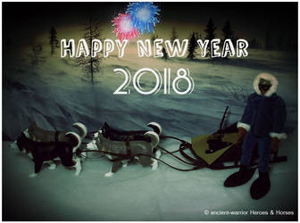 BJ Arctic Resque Night red blue fireworks HNY 2018 by ancient-warrior