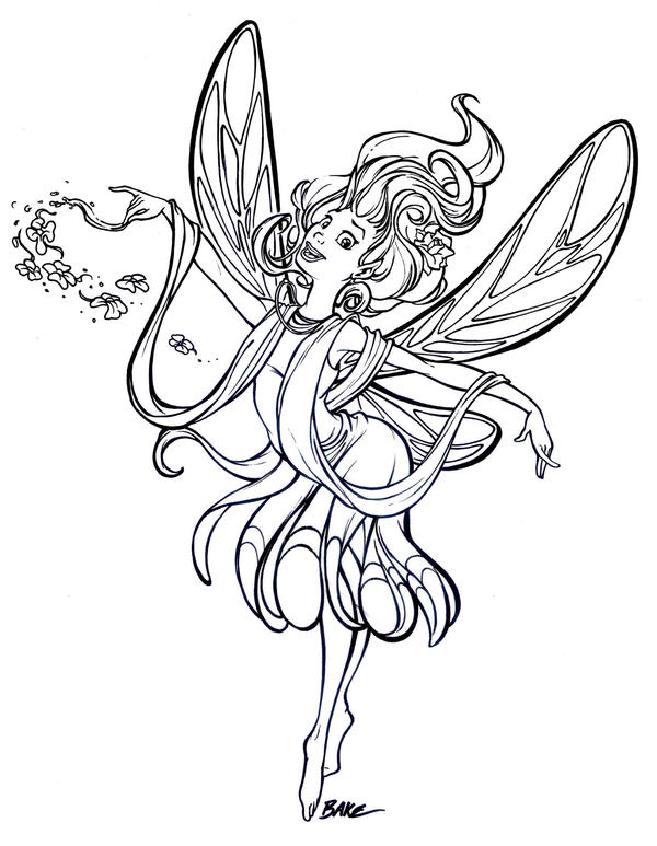 earth fairy coloring pages - photo#20