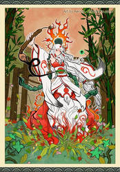 Amaterasu - human version by Aerinn-I