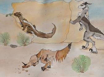 Desert Creatures by FireHeartSong