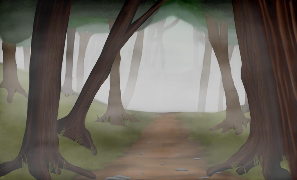 Foggy Forest by DanaKellyArt