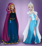 Anna and Elsa from Frozen, Once Upon A Time