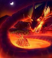 Bonzai Dragon by rek0