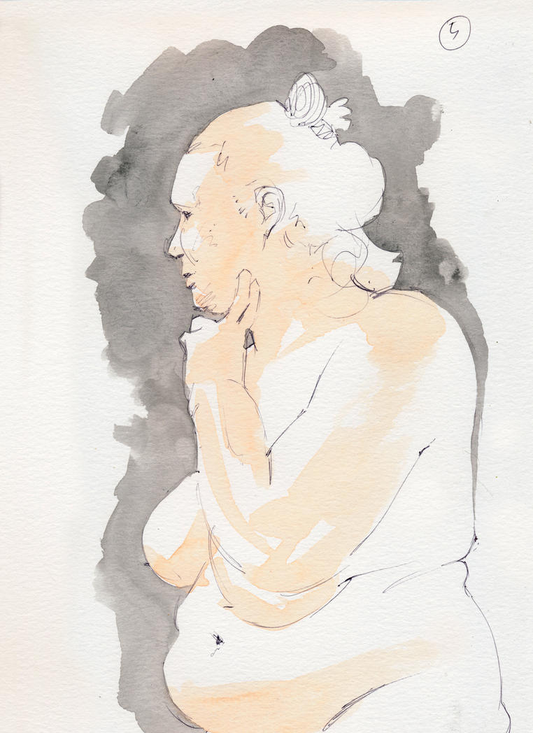Life-Drawing water colour by rek0