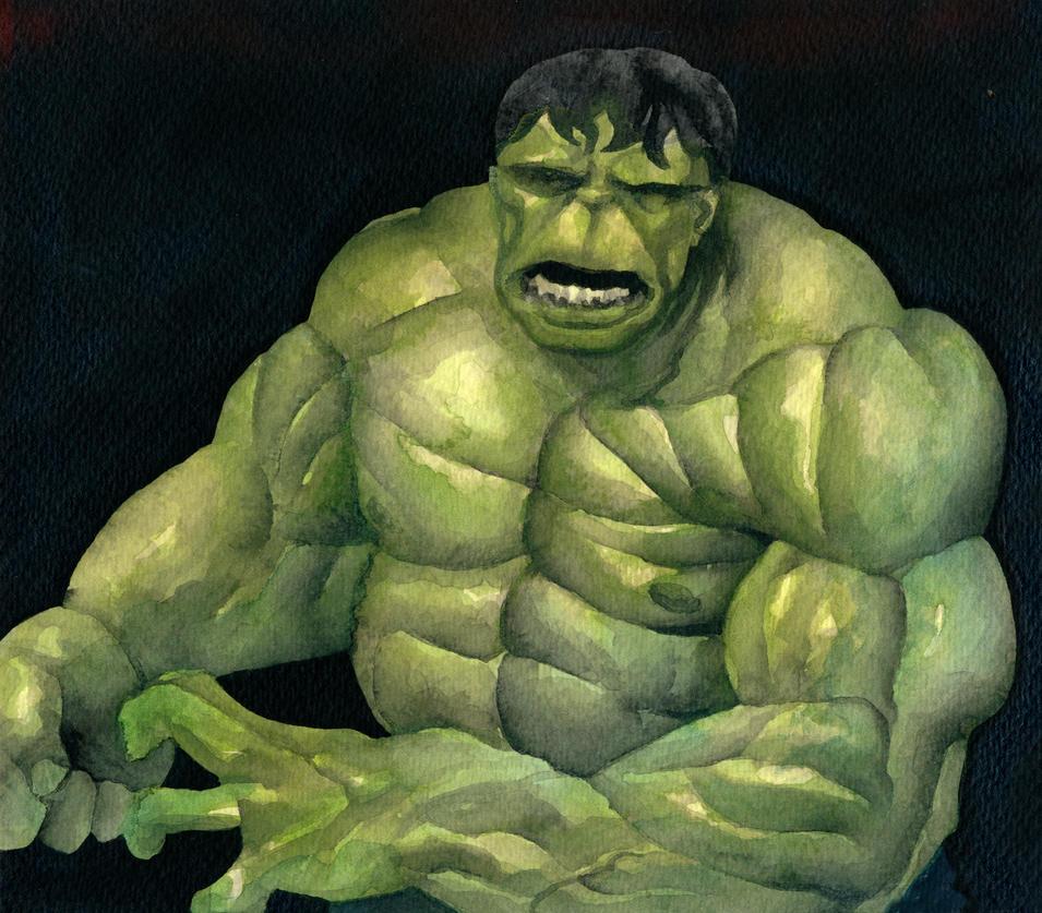 The Hulk - Watercolor by rek0