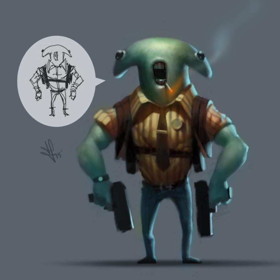 Detective Hammerhead, from Shark Squad... by rek0