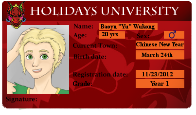 HU -  1st year Yu by Creativefreak18