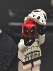 Deadpool in a Stormtrooper Suit by darth-gerko