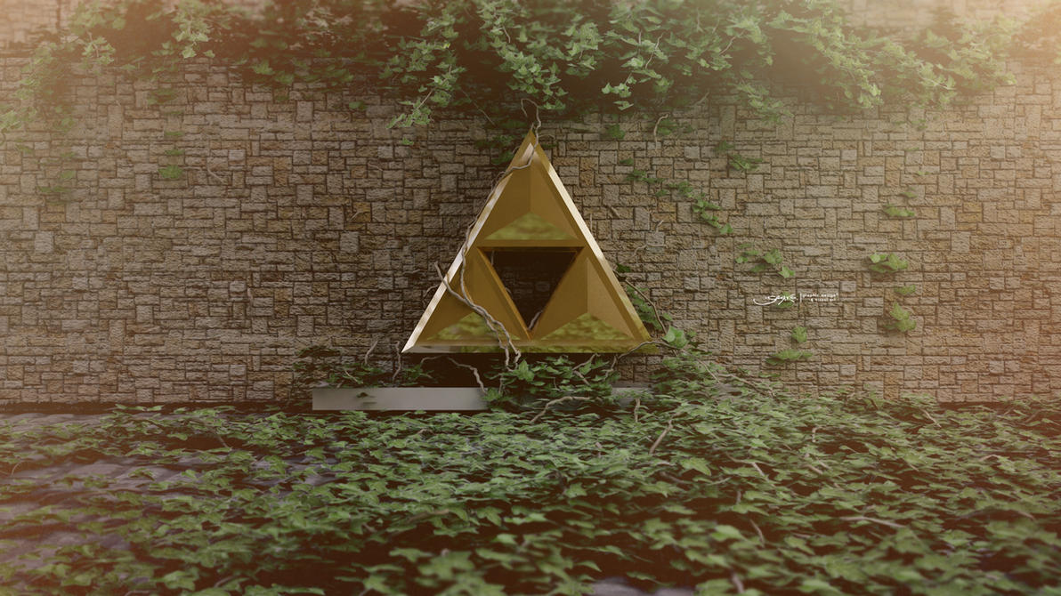 Triforce Wallpaper by darth-gerko