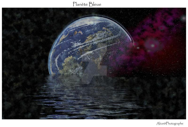 Planete bleue by circelasombre on deviantart for Plante bleue