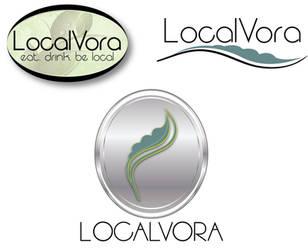 LocalVora Logo Examples by GhentArt