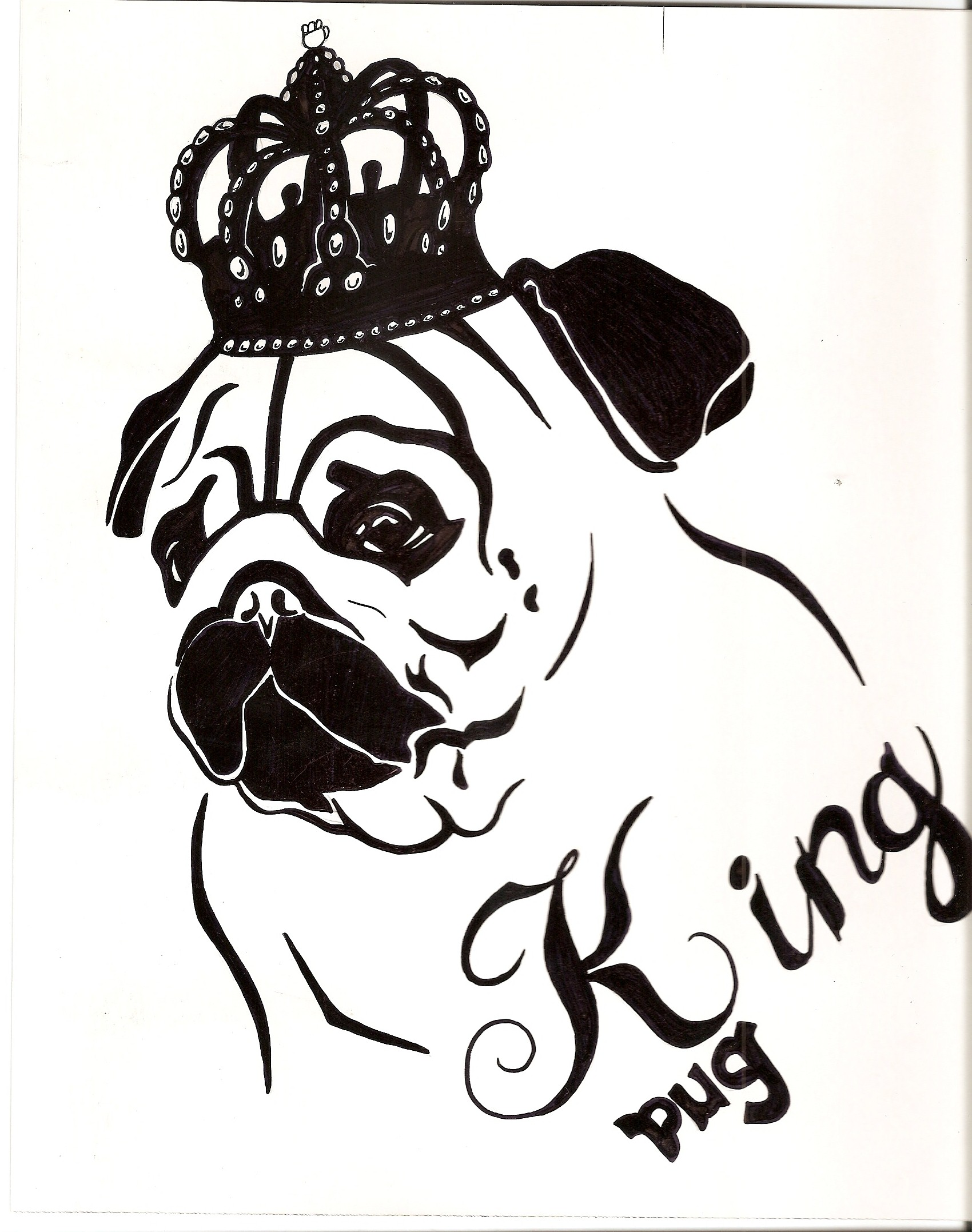 pugs coloring pages to print - photo#10