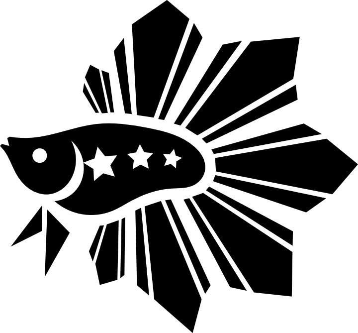 Betta Pinoy Logo Black by manonastreet