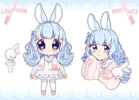 Blue Bun Adopt (closed) by Shiua