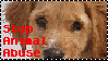 Stop Animal Abuse Stamp by bookholder1558