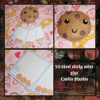 Cookie Plush n Sticky Notes by danger0usangel03