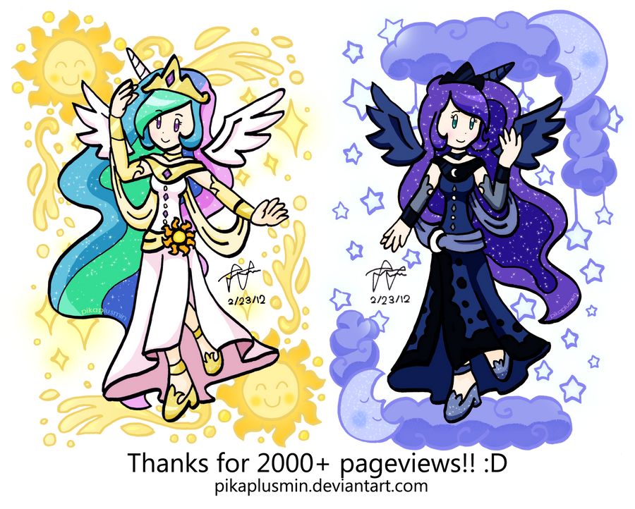 MLP FiM: Princesses of Equestria by pikaplusmin