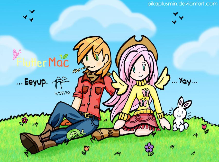 FlutterMac: Shy Sweethearts by pikaplusmin