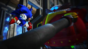 Sonic the Hedgehog - Sonic vs Death Egg Robot by Alaska-Pollock