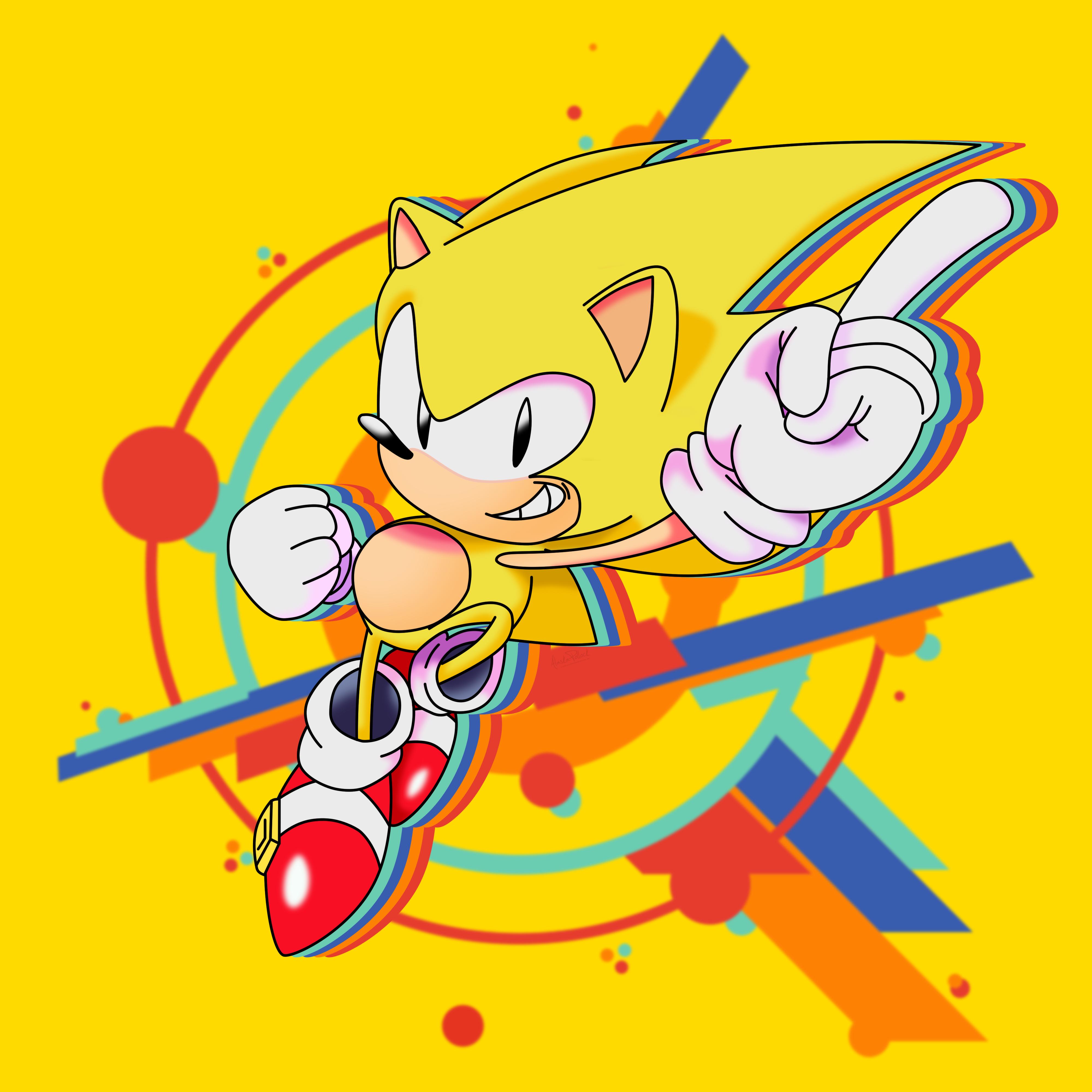 Super Sonic Mania 4k By Alaska Pollock On Deviantart