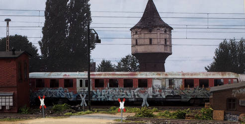 Abandoned railcar by jpachl