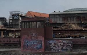 Berlin railway scene