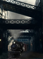 Steaming through the old industry yard
