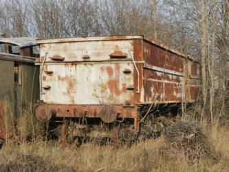 Rusting away in the woods
