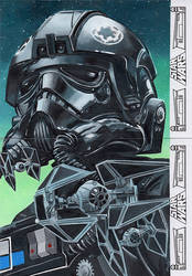Star Wars 40th An. 2 card puzzle sketch