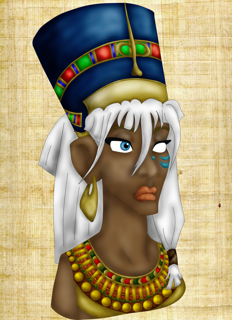 Kida as Nefertiti by EnihpledAmira