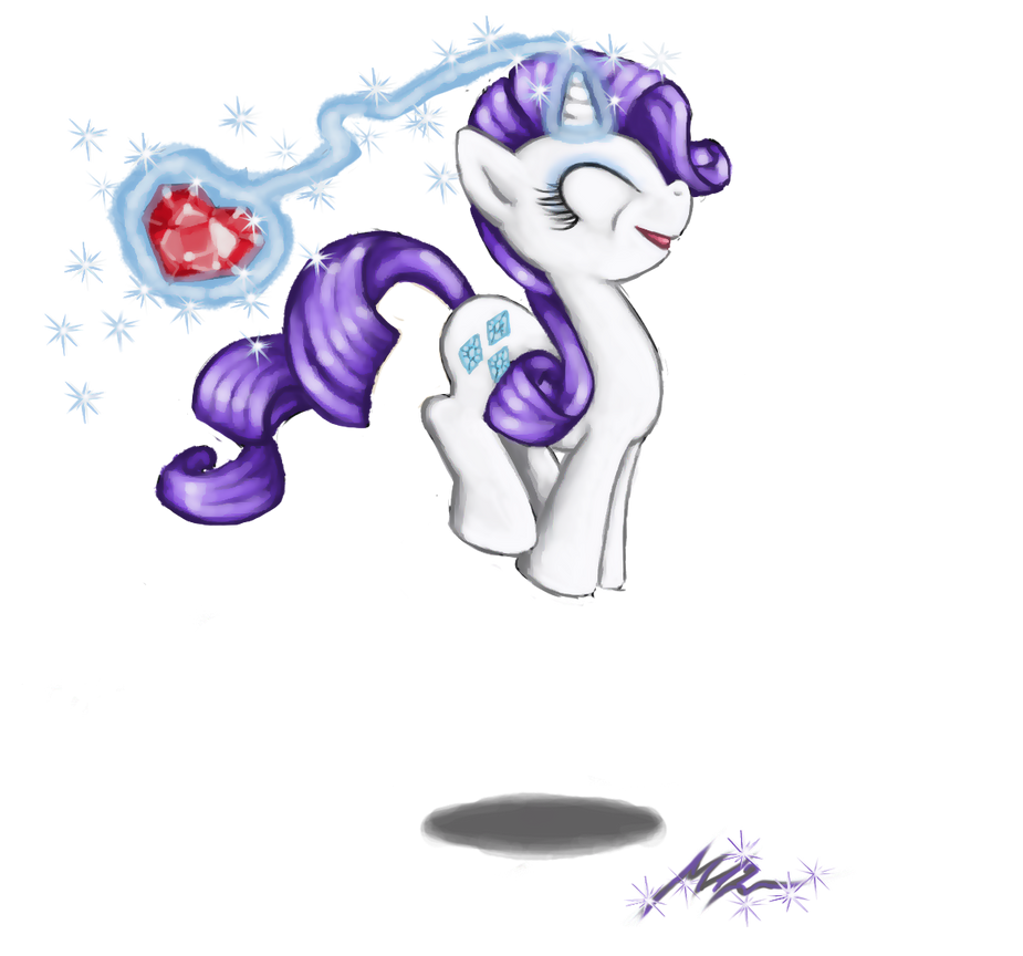 Bouncy Rarity by DeathCutlet