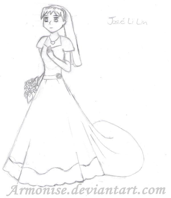 How To Draw Anime Girl Dress Anime Girl wedding Dre...