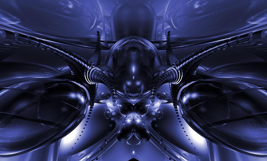 Alien Ship blue by jazzilady