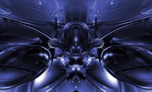 Alien Ship Blue