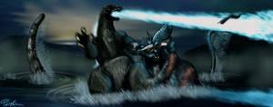 Godzilla vs Deutalios (Deleted Scene)