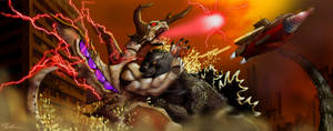 Godzilla vs Bagan (ver.II)