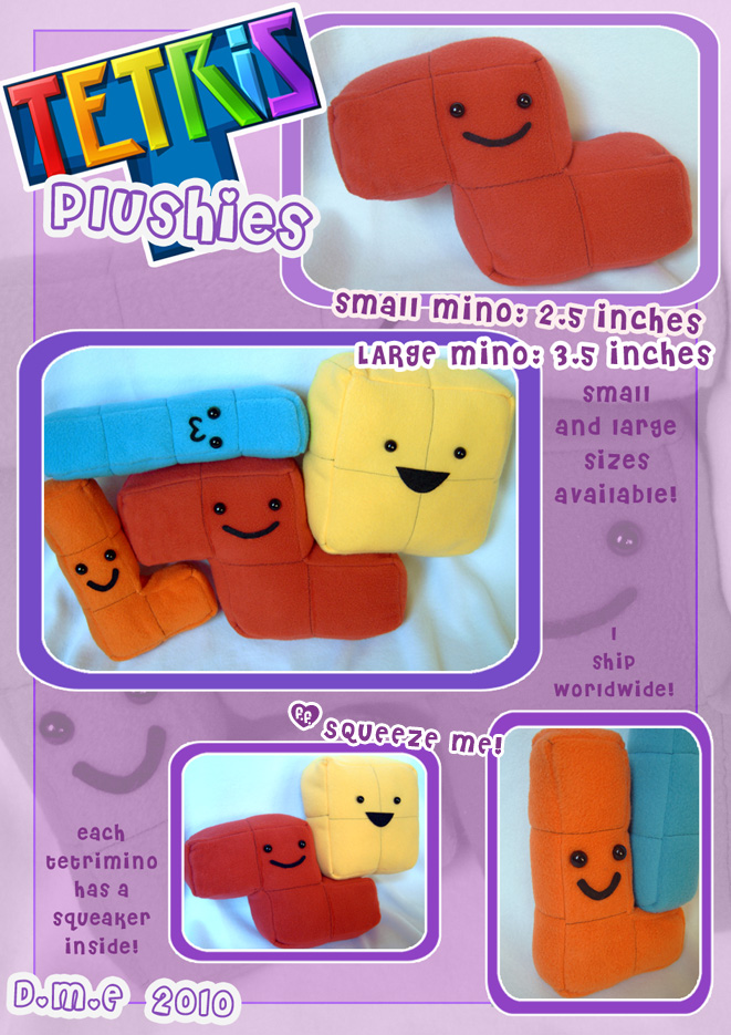 Tetris Plushies by tavington