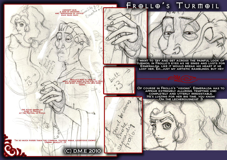 Frollo's Turmoil WIP by tavington