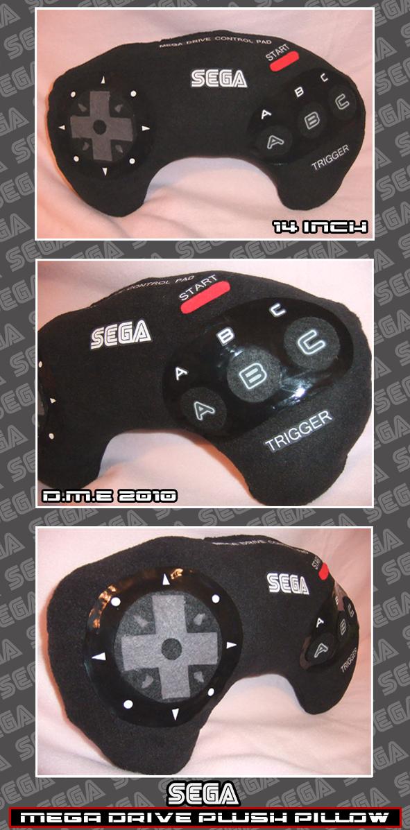 SEGA Mega Drive Plush Pillow by tavington