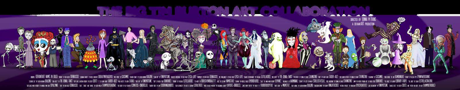 The Big Tim Burton Art Collab by tavington